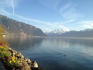 Vue du lac et des Alpes depuis Montreux